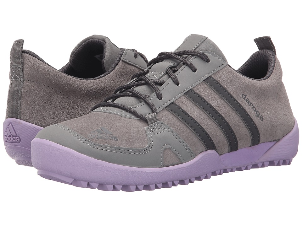 adidas Outdoor Kids Daroga Leather Little Kid/Big Kid Solid Grey/Granite/Purple Glow Girls Shoes