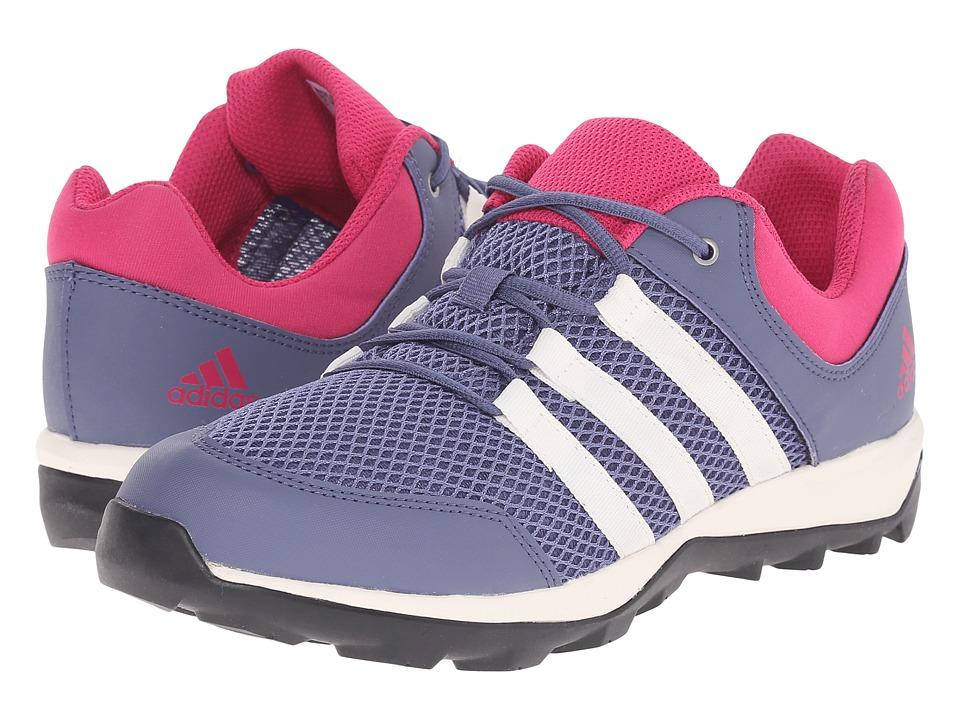 adidas Outdoor Kids Daroga Plus Little Kid/Big Kid Super Purple/Sun Glow/Equipment Pink Girls Shoes