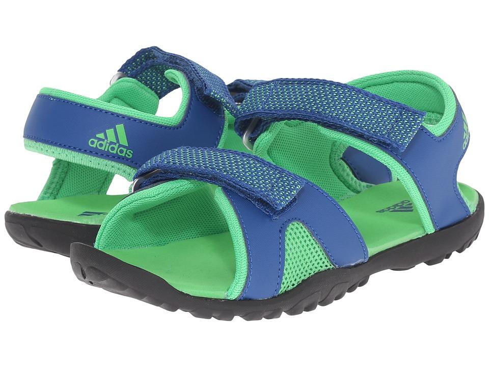 adidas Outdoor Kids Sandplay OD Toddler/Little Kid/Big Kid Equipment Blue/Semi Solar Lime/Black Boys Shoes