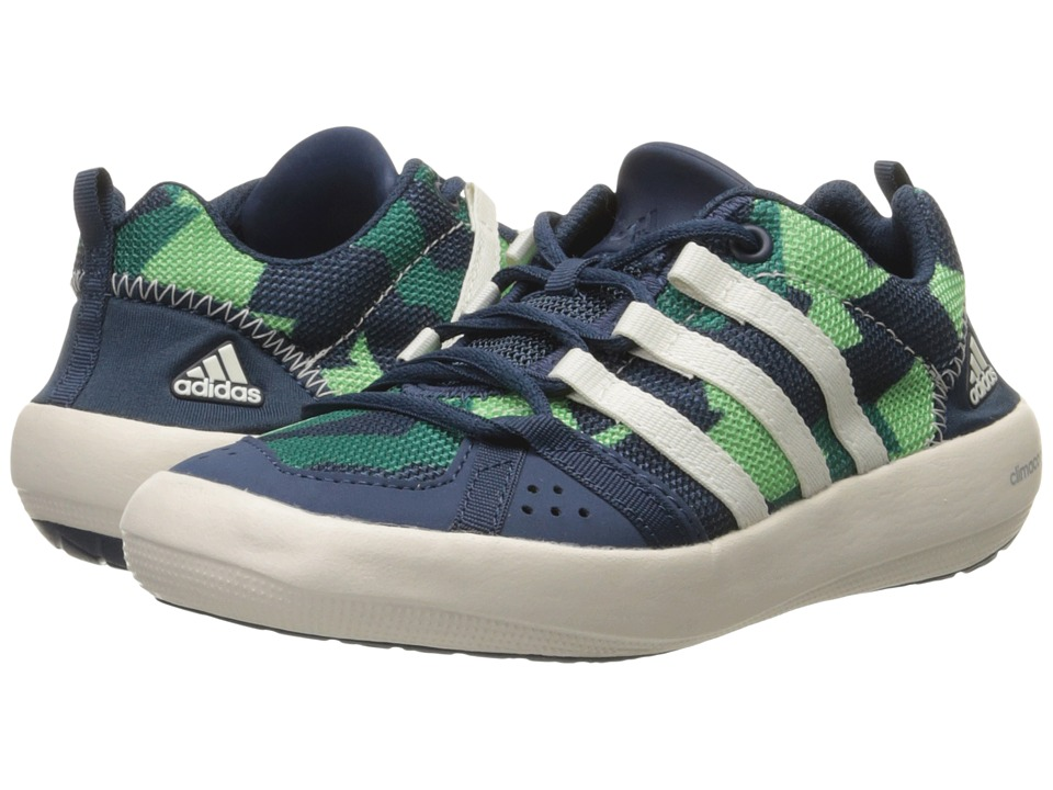 adidas Outdoor Kids Climacool Boat Lace Little Kid/Big Kid Mineral Blue/Chalk White/Green Glow Kids Shoes