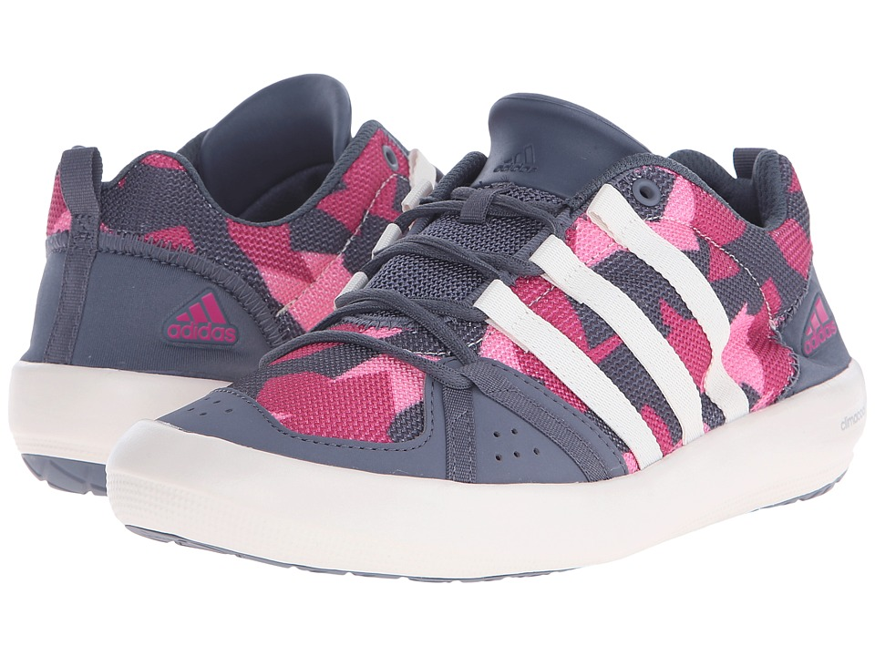 adidas Outdoor Kids Climacool Boat Lace Little Kid/Big Kid Onix/Chalk White/Equipment Pink Girls Shoes
