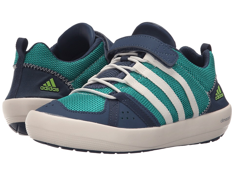 adidas Outdoor Kids Climacool Boat CF Little Kid/Big Kid Equipment Green/Chalk White/Mineral Blue Boys Shoes
