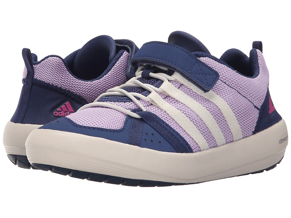adidas Outdoor Kids Climacool Boat CF Little Kid/Big Kid Purple Glow/Chalk White/Raw Purple Girls Shoes