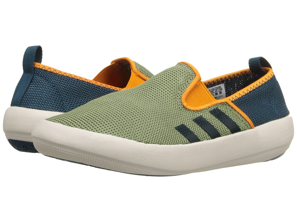 adidas Outdoor Kids Boat Slip On Little Kid/Big Kid Shift Olive/Mineral/Equipment Orange Boys Shoes