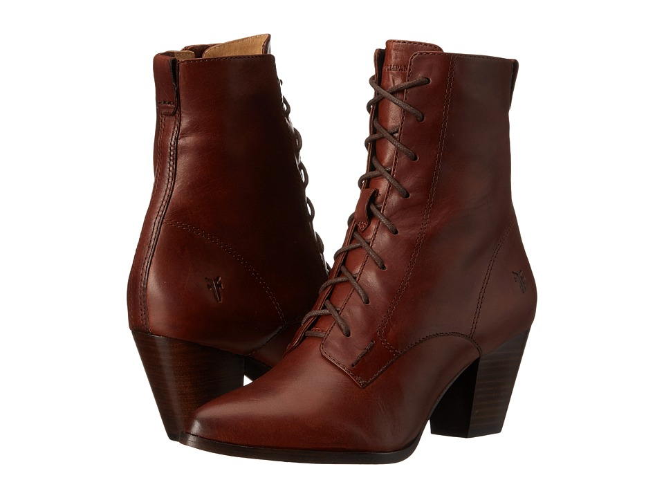 Frye - Renee Lace Up (Redwood Smooth Oiled Veg) Women