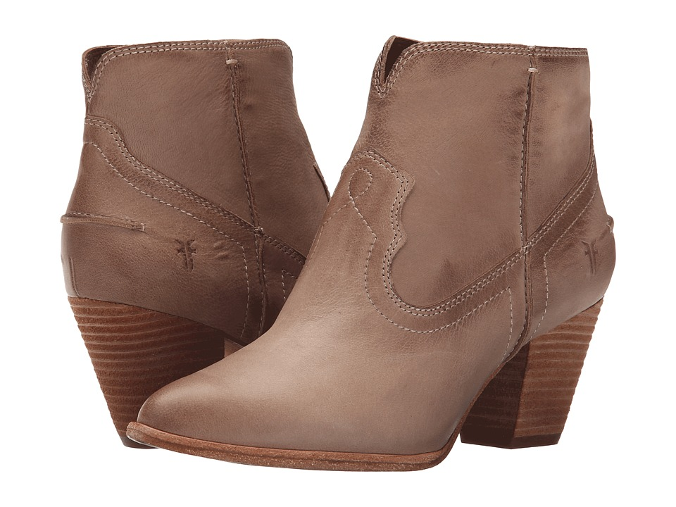 Frye - Renee Seam Short (Cement Soft Oiled Leather) Cowboy Boots