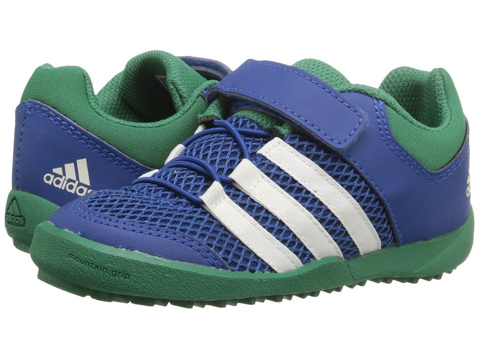 adidas Outdoor Kids Daroga Plus AC Toddler Equipment Blue/Chalk White/Blanch Green Boys Shoes