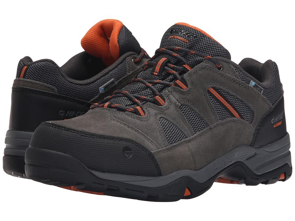 Hi Tec Bandera II Low Waterproof Charcoal/Graphite/Burnt Orange Mens Shoes