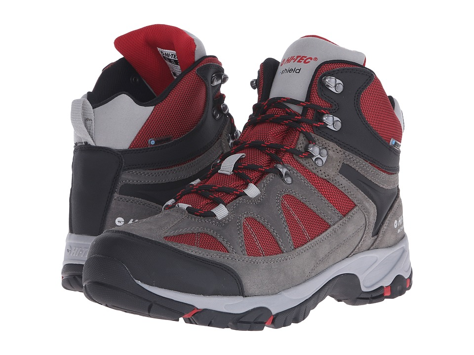 Hi Tec Altitude Lite I Shield Waterproof Charcoal/Cool Grey/Red Mens Hiking Boots