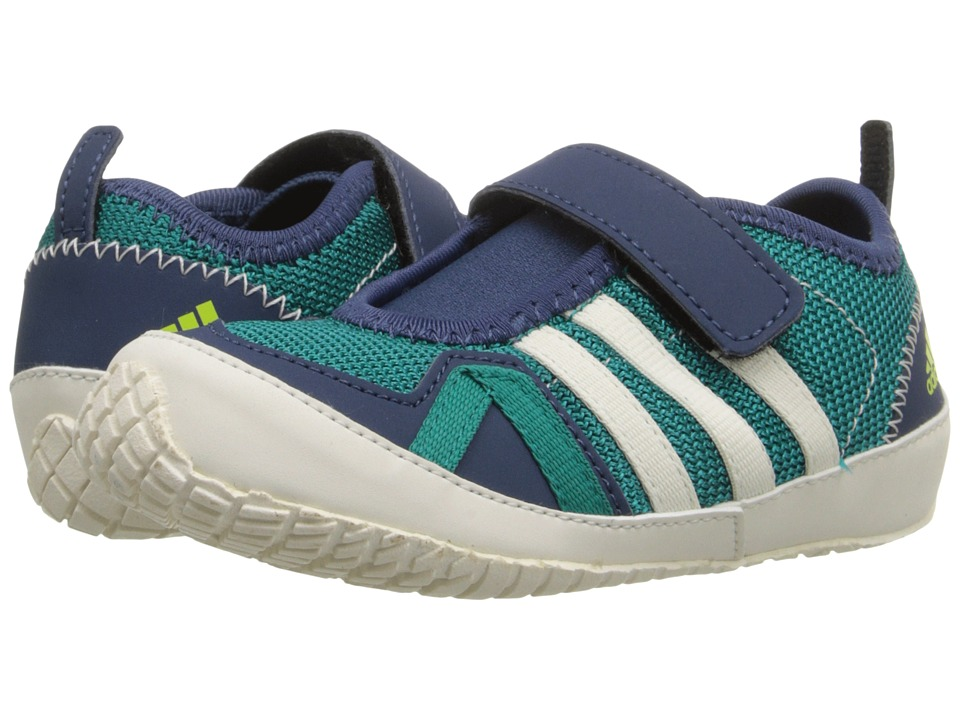 adidas Outdoor Kids Boat Plus AC Toddler Equipment Green/Chalk White/Mineral Blue Boys Shoes
