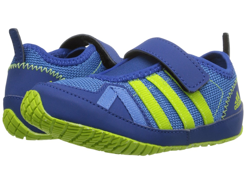 adidas Outdoor Kids Boat Plus AC Toddler Super Blue/Semi Solar Slime/Equipment Blue Boys Shoes