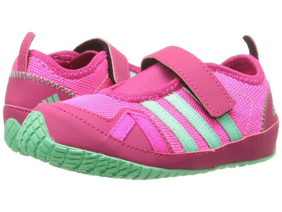 adidas Outdoor Kids Boat Plus AC Toddler Shock Pink/Green Glow/Bold Pink Girls Shoes