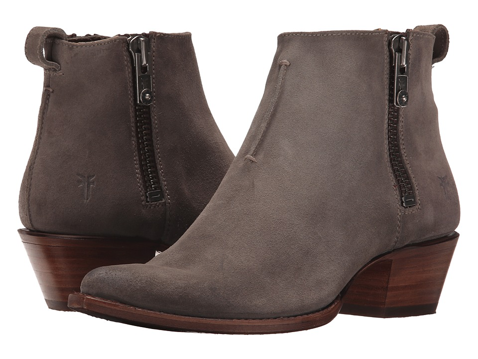 Frye Sacha Moto Shortie (Dark Grey Suede) Women