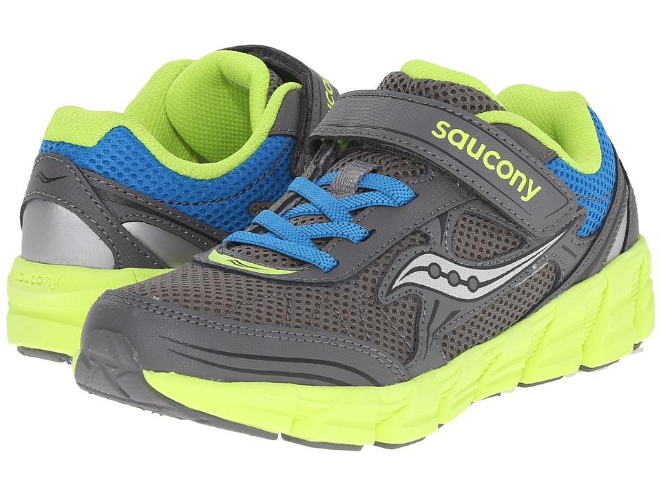 Saucony Kids - Kotaro 2 A/C (Big Kid) (Grey/Blue/Citron) Boys Shoes