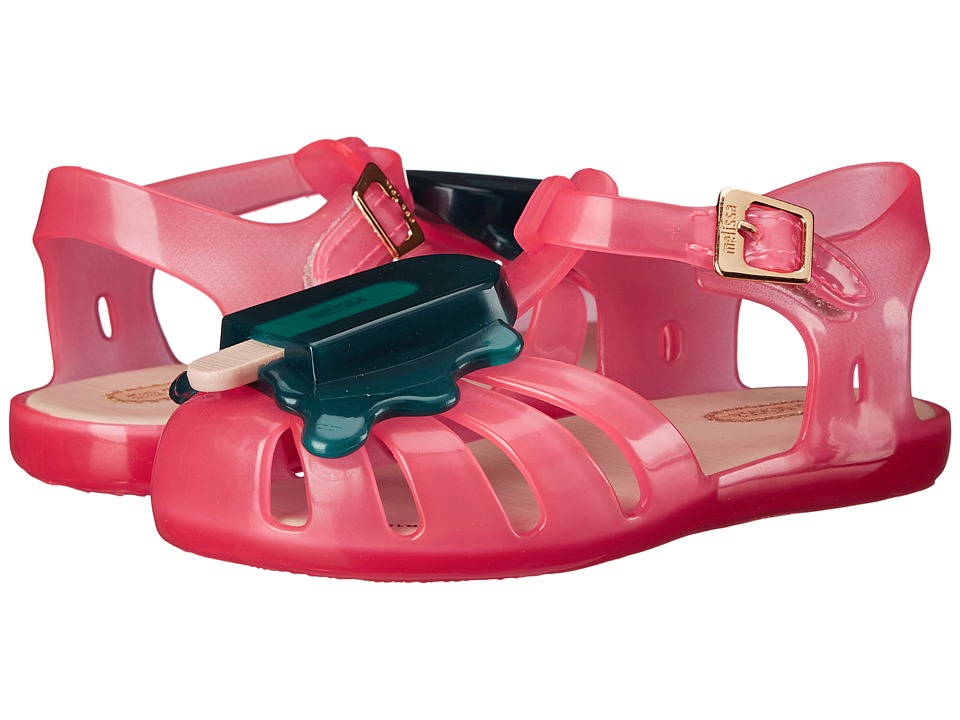 Mini Melissa Aranha VIII Toddler Pink/Green Girls Shoes