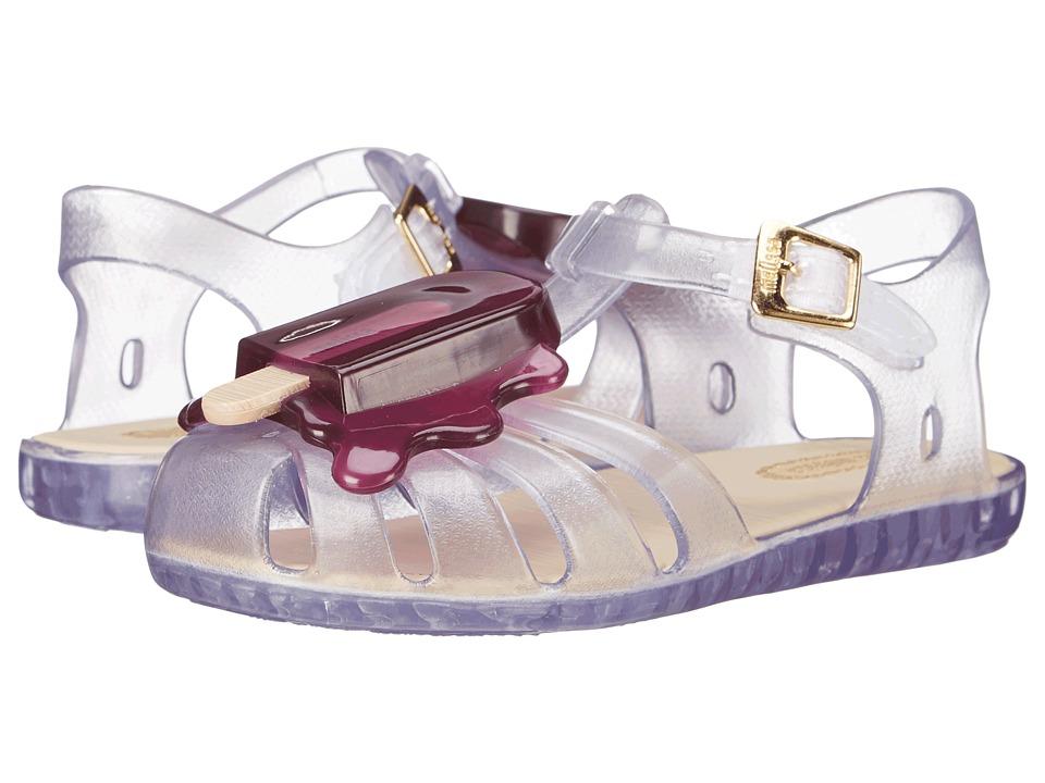 Mini Melissa Aranha VIII Toddler Clear/Purple Girls Shoes
