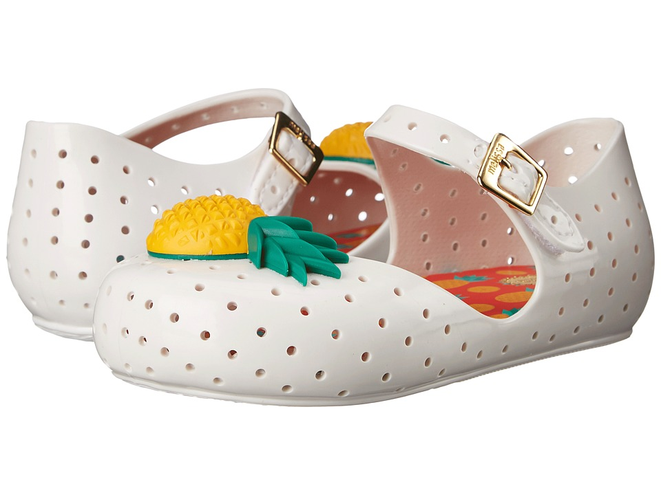 Mini Melissa Furadinha VII Toddler White Girls Shoes