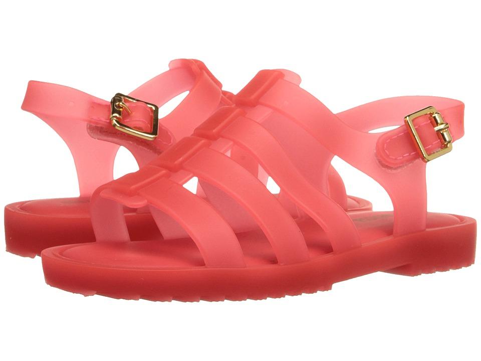 Mini Melissa Flox Toddler Neon Orange Matte Girls Shoes