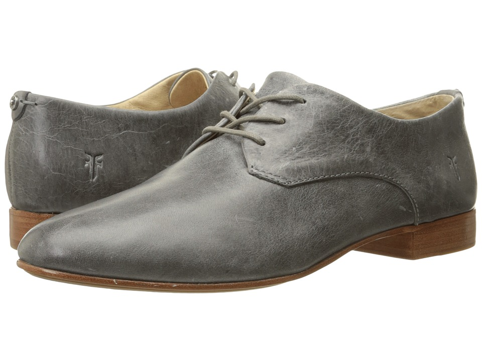 Frye Tracy Oxford Pewter Antique Pull Up Womens Lace up casual Shoes