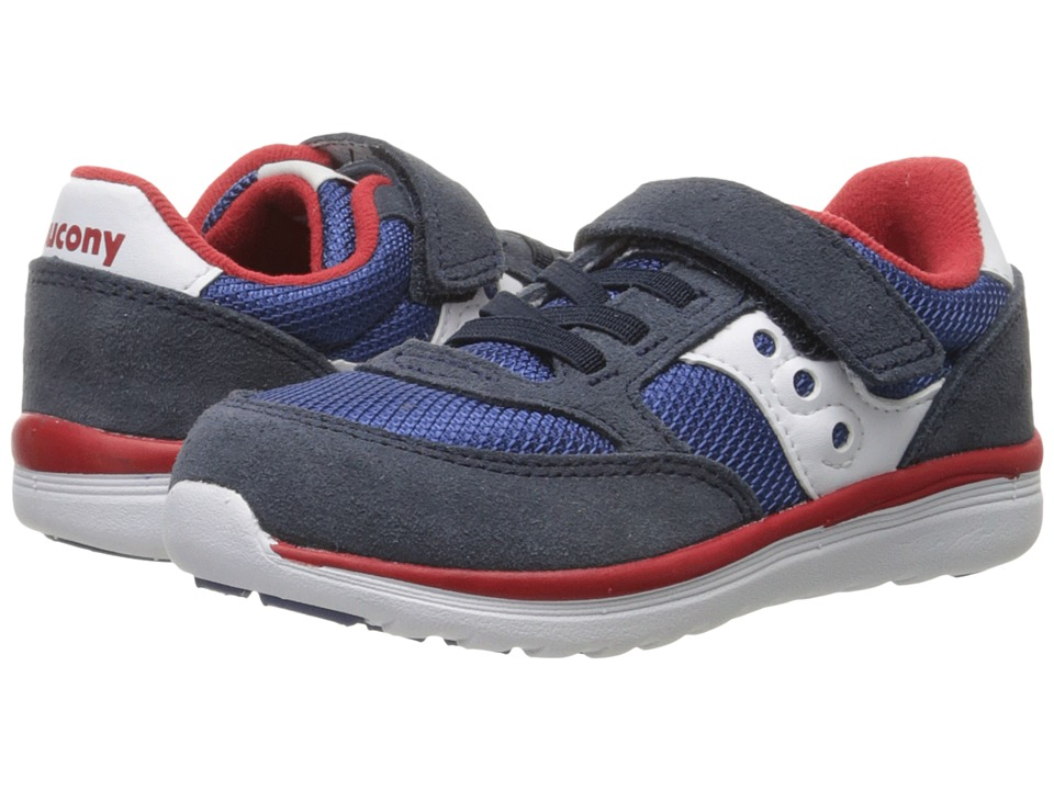 Saucony Kids Baby Jazz Lite Toddler/Little Kid Navy/Cobalt/Red Boys Shoes