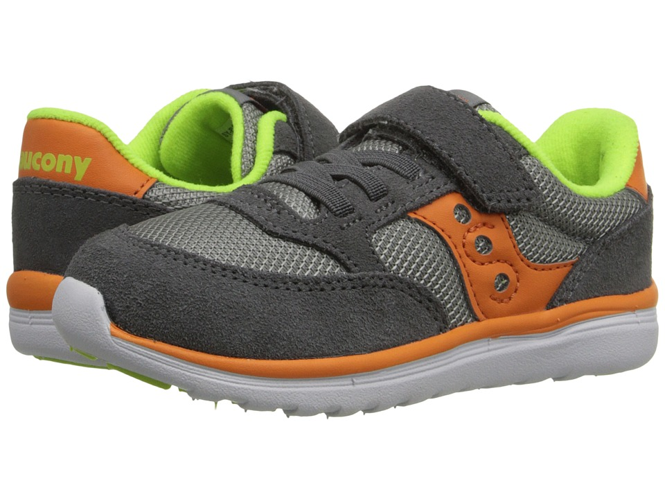 Saucony Kids Baby Jazz Lite Toddler/Little Kid Grey/Orange/Citron Boys Shoes