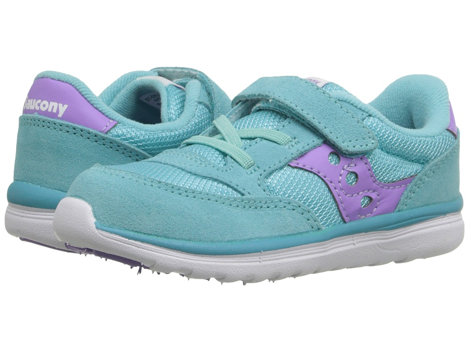 Saucony Kids Baby Jazz Lite Toddler/Little Kid Turquoise/Purple Girls Shoes