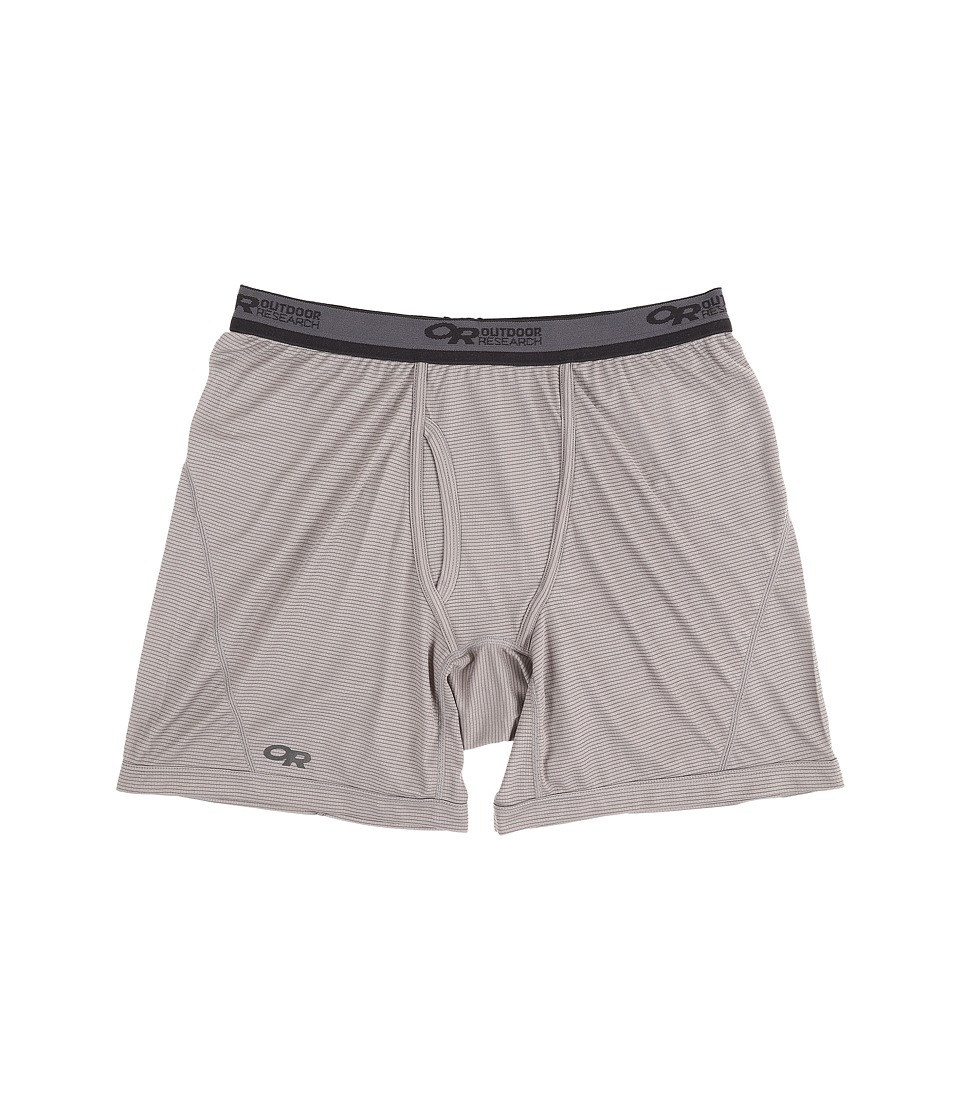 Outdoor Research Echo Boxer Briefs (Pewter/Charcoal) Men