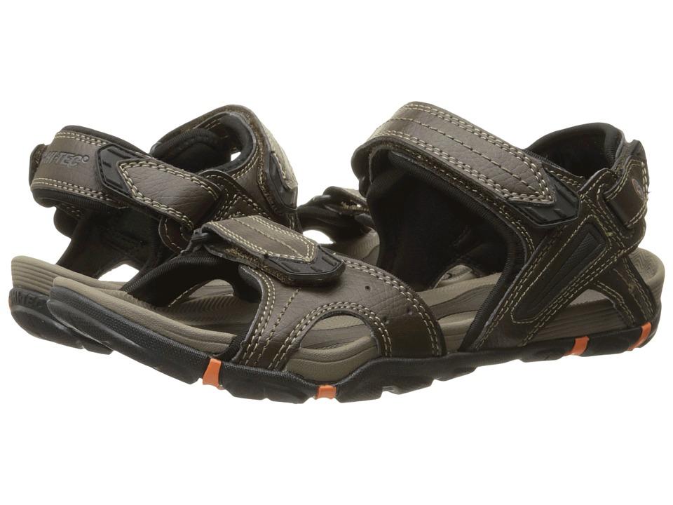 Hi Tec Altitude Lite Strap Dark Chocolate/Black/Burnt Orange Mens Boots