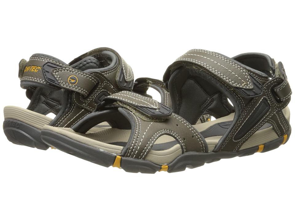 Hi Tec Altitude Lite Strap Olive/Gold Mens Boots