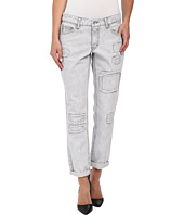dollhouse - Rip and Repair Rigid Boyfriend Capri Jeans in Reed