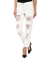 dollhouse - Light Wash Fully Shredded Boyfriend Capri Jeans in Faith