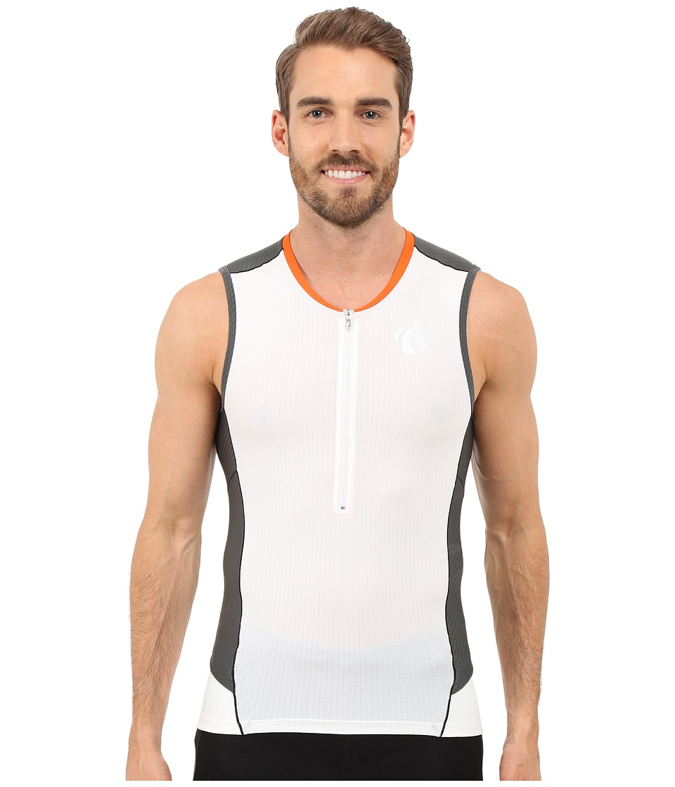 Pearl Izumi Elite Pursuit Tri SL Jersey White/Shadow Grey Mens Workout