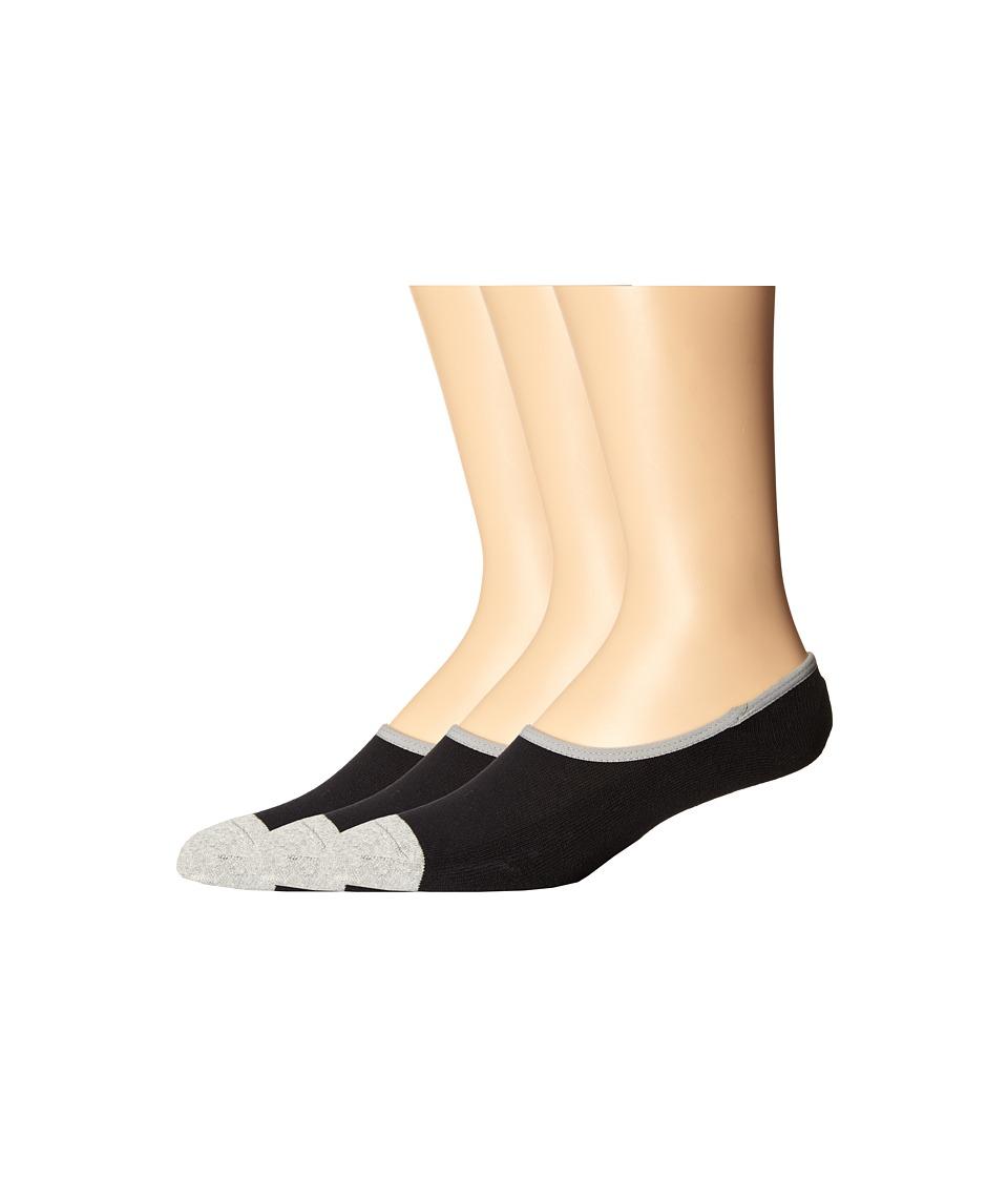 Timberland - TM31454 Cavas Shoe Liner 3-Pack (Black) Men's Crew Cut Socks Shoes