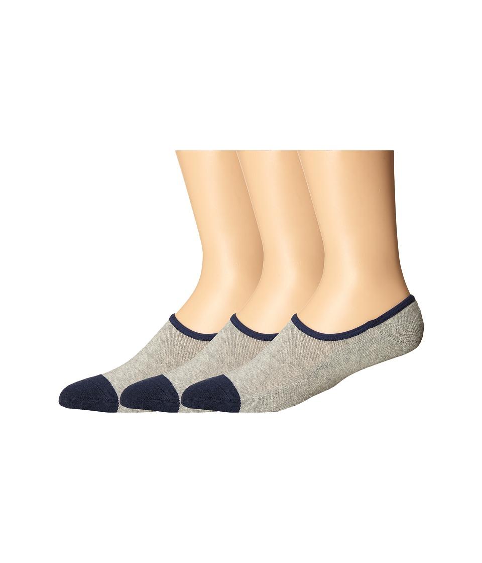 Timberland - TM31454 Cavas Shoe Liner 3-Pack (Grey Heather) Men's Crew Cut Socks Shoes