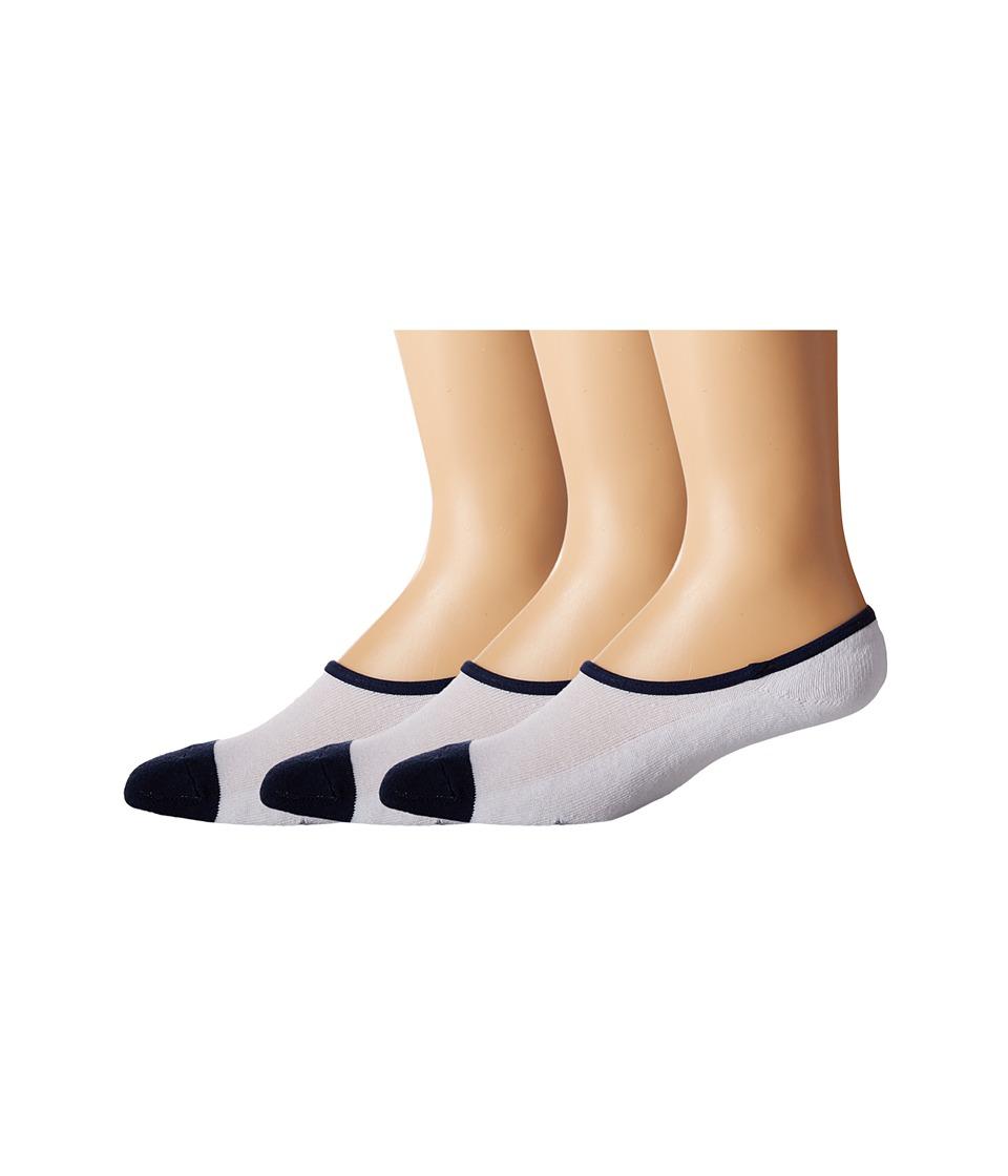 Timberland - TM31454 Cavas Shoe Liner 3-Pack (White) Men's Crew Cut Socks Shoes