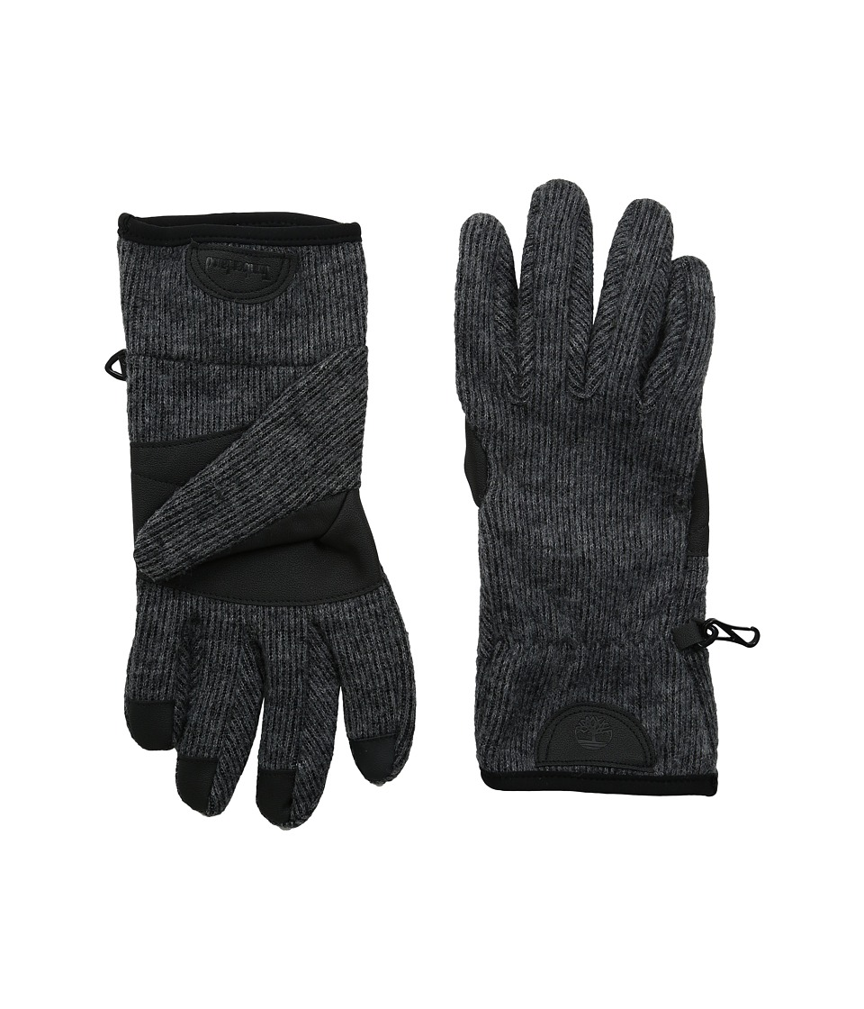 Timberland GL360014 Ribbed Knit Stretch Glove (Charcoal) Extreme Cold Weather Gloves