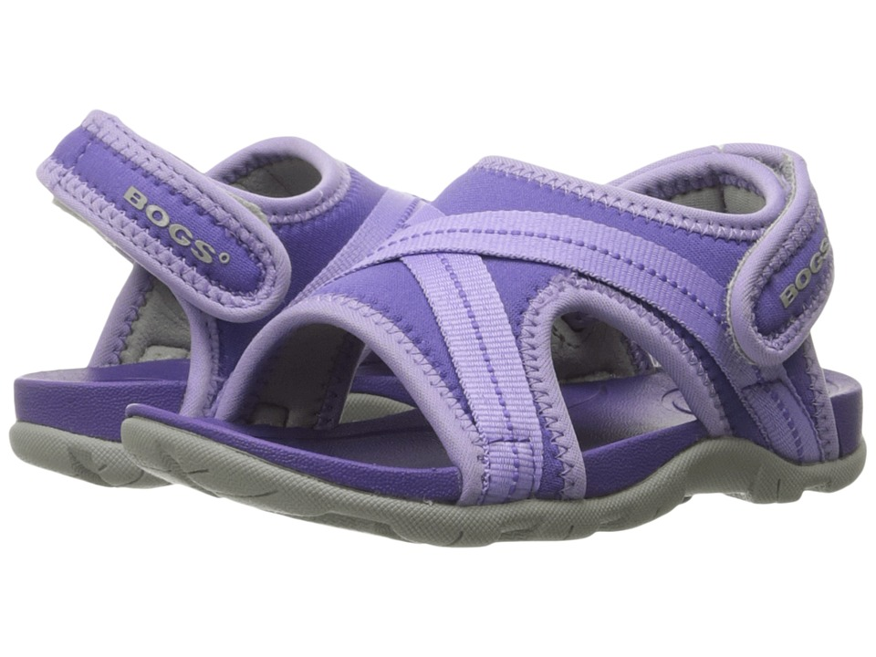 Bogs Kids Bluefish Toddler/Little Kid Violet Multi Girls Shoes