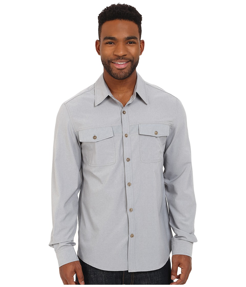 Royal Robbins Diablo Long Sleeve Shirt Light Pewter Mens Long Sleeve Button Up