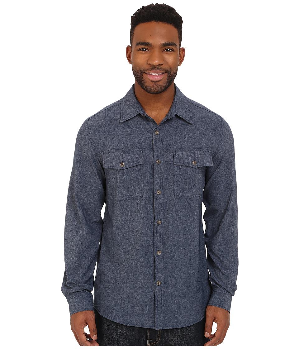 Royal Robbins Diablo Long Sleeve Shirt Deep Blue Mens Long Sleeve Button Up