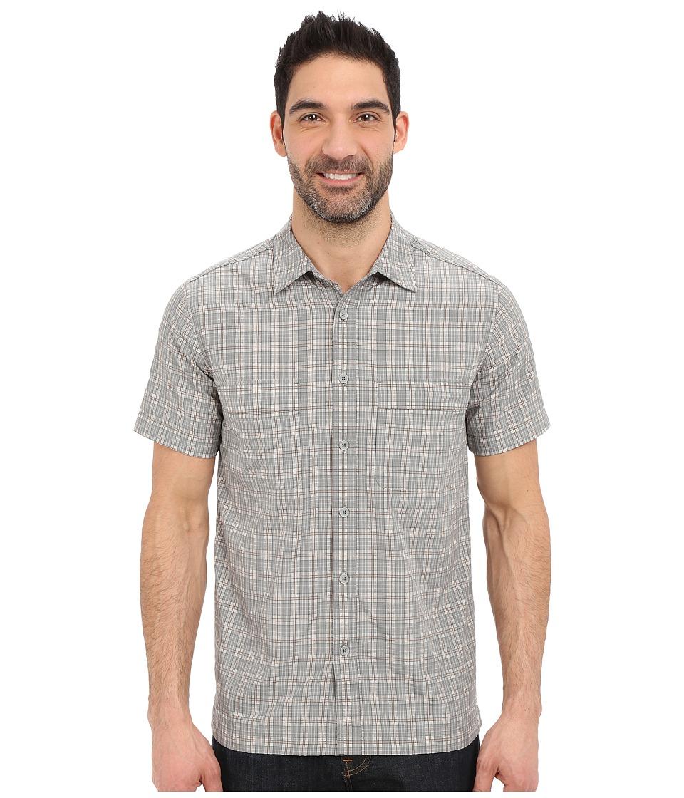 Royal Robbins Diablo Plaid Short Sleeve Shirt Light Pewter Mens Short Sleeve Button Up