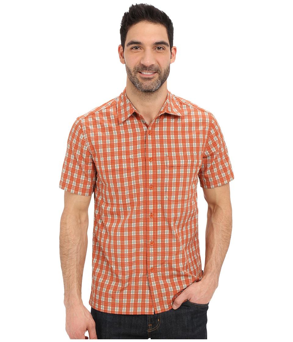 Royal Robbins Diablo Plaid Short Sleeve Shirt Salsa Mens Short Sleeve Button Up