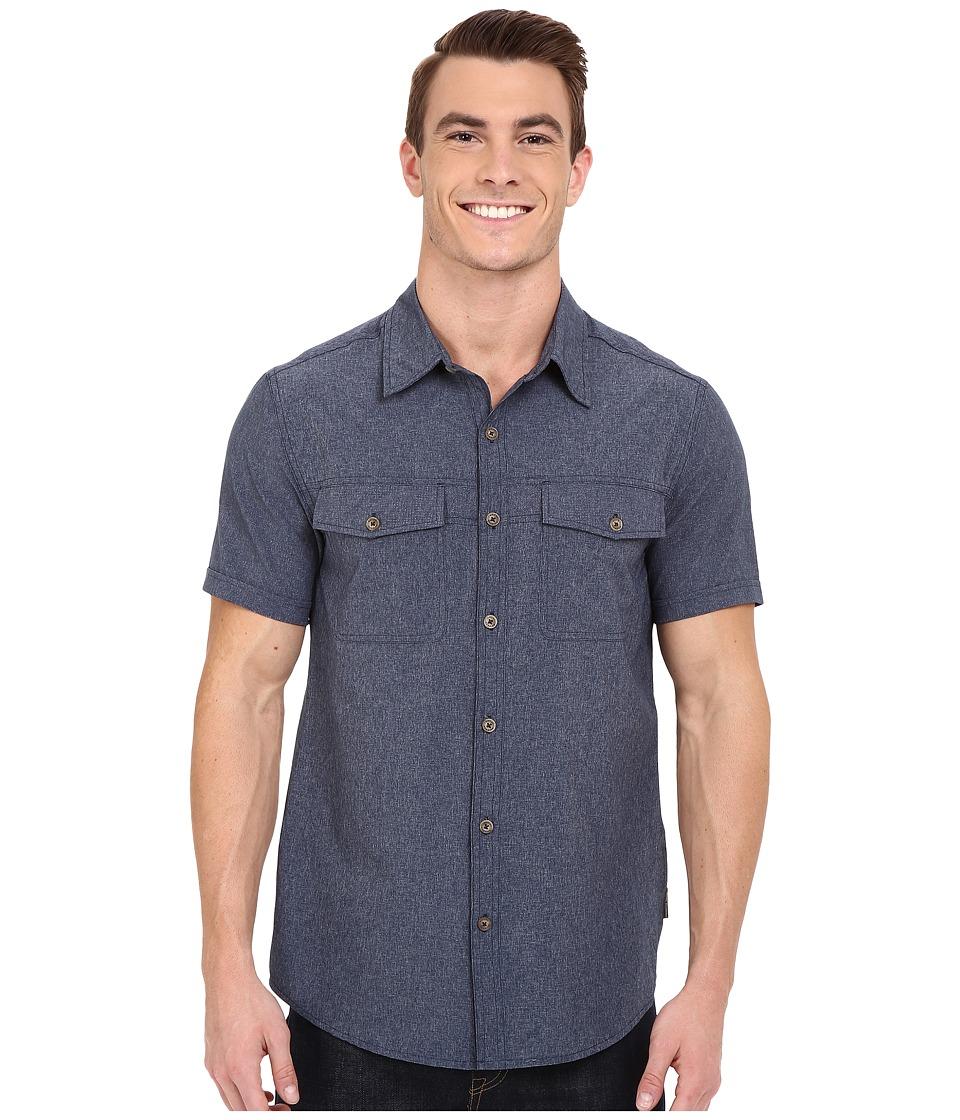 Royal Robbins Diablo Short Sleeve Shirt Deep Blue Mens Short Sleeve Button Up