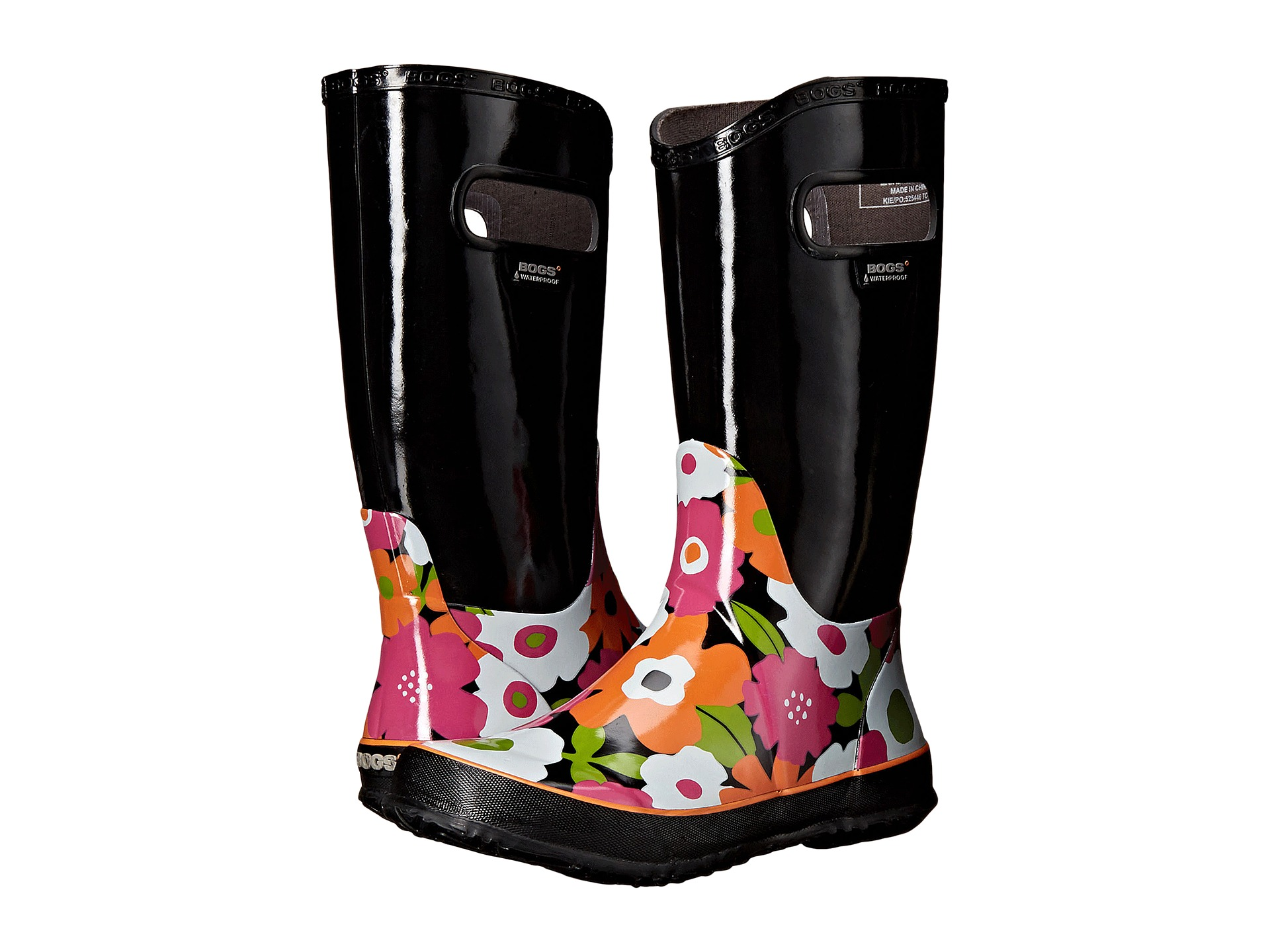 Marc By Marc Jacobs Dreamy Logo Rubber Rain Boots Rubber Black ...