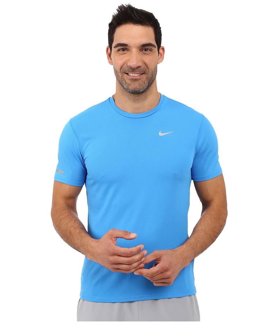 Nike Dri-FIT Contour S/S Running Shirt (Light Photo Blue/Reflective Silver) Men