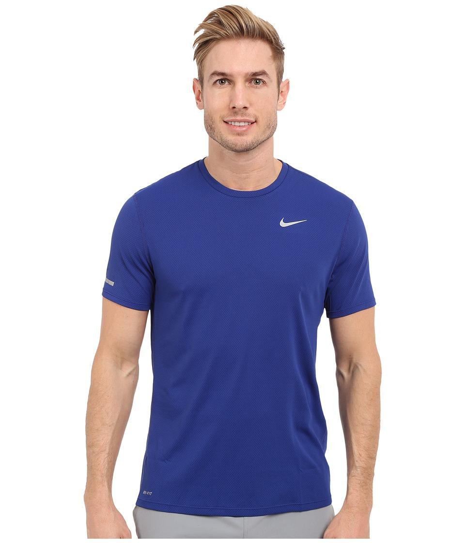 Nike Dri-FIT Contour S/S Running Shirt (Deep Royal Blue/Reflective Silver) Men
