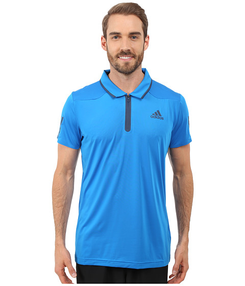 Adidas Barricade Polo Shirt Shock Blue Mineral Blue