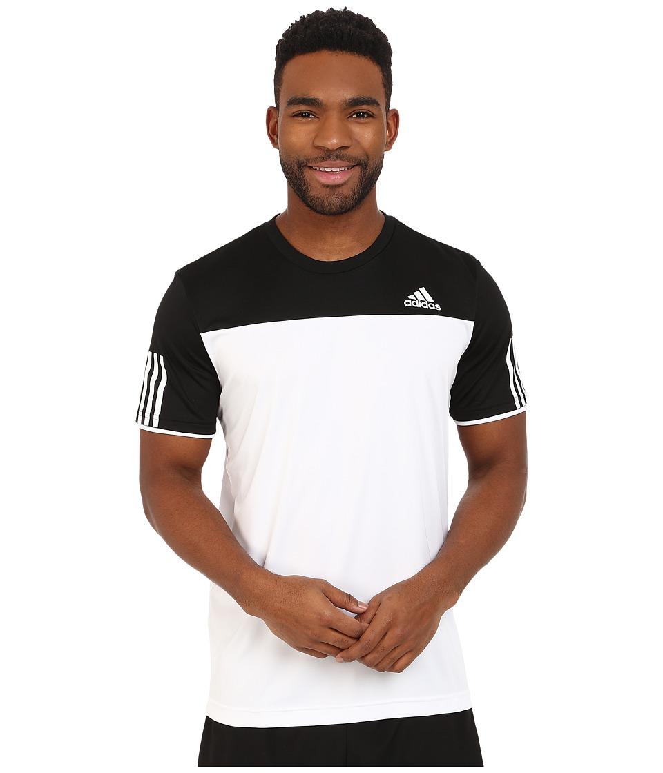 adidas Club Tee White/Black Mens T Shirt