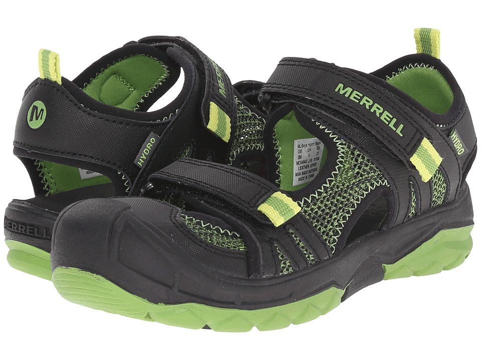 Merrell Kids Hydro Rapid Toddler/Little Kid/Big Kid Black/Green Boys Shoes