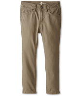 7 For All Mankind Kids - Slimmy Slim Straight Twill Jeans in Drift Wood (Little Kids/Big Kids)