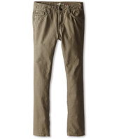7 For All Mankind Kids - Slimmy Slim Straight Twill Jeans in Drift Wood (Big Kids)